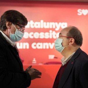EuropaPress - ministro sanidad salvador illa primer secretario psc miquel iceta
