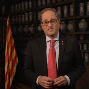 Quim Torra discurs Cap d'Any 2020 Girona