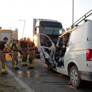 Accident mortal a l'L 702, a Puigverd de Lleida, el 21 de maig del 2020 / ACN