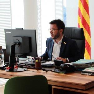 Pere Aragonès, al seu despatx el 30 de desembre de 2020 / ACN