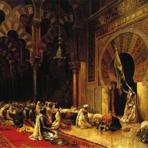 Neix Abderraman III, el califa basc aliat dels comtes catalans. Representació moderna del Palau Califal (1880). Font The Walters Art Museum. Baltimore