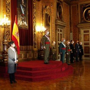 Autoritats durant la celebració de la Pasqua Militar a Barcelona / ACN