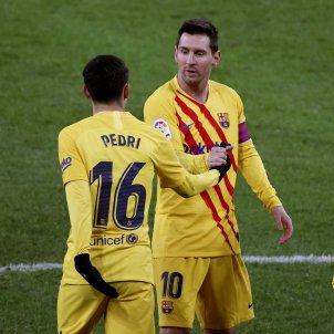 Pedri Messi Athletic Barça EFE