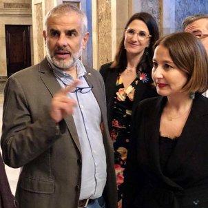 Sonia Sierra con Carlos Carrizosa en el Parlament de Catalunya @sonia sierracs