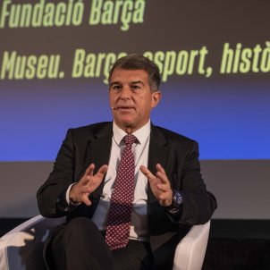 Joan Laporta presenta programa fundacio barça - Maria Contreras Coll