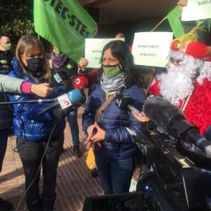 Protesta USTEC Ensenyament USTEC