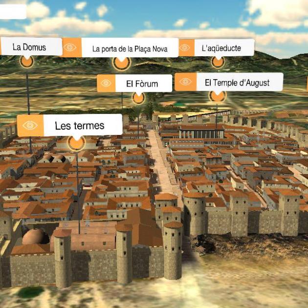 Reproducció idealitzada de la Barcelona romana. Font Serveis d'Arqueologia de l'Ajuntament de Barcelona