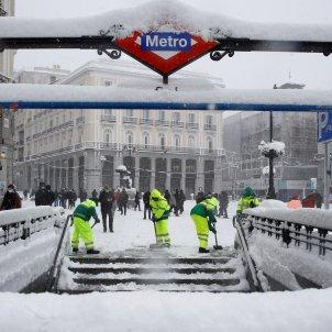 entrada metro madrid temporal filomena - Efe