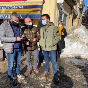 Pere Aragonès nevada neu Falset - Govern