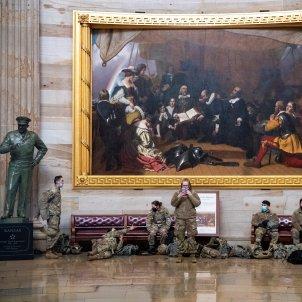 Efectius Guàrdia Nacional sala Capitoli EFE