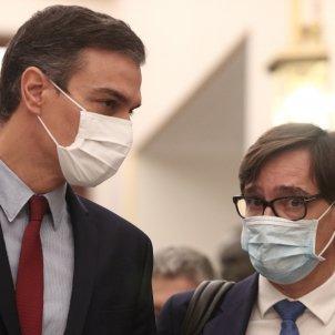 EuropaPress - presidente gobierno pedro sanchez ministro sanidad salvador illa llegada