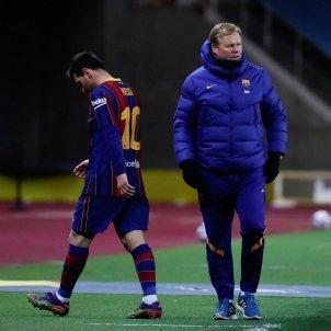 Koeman Messi triste Barça EFE