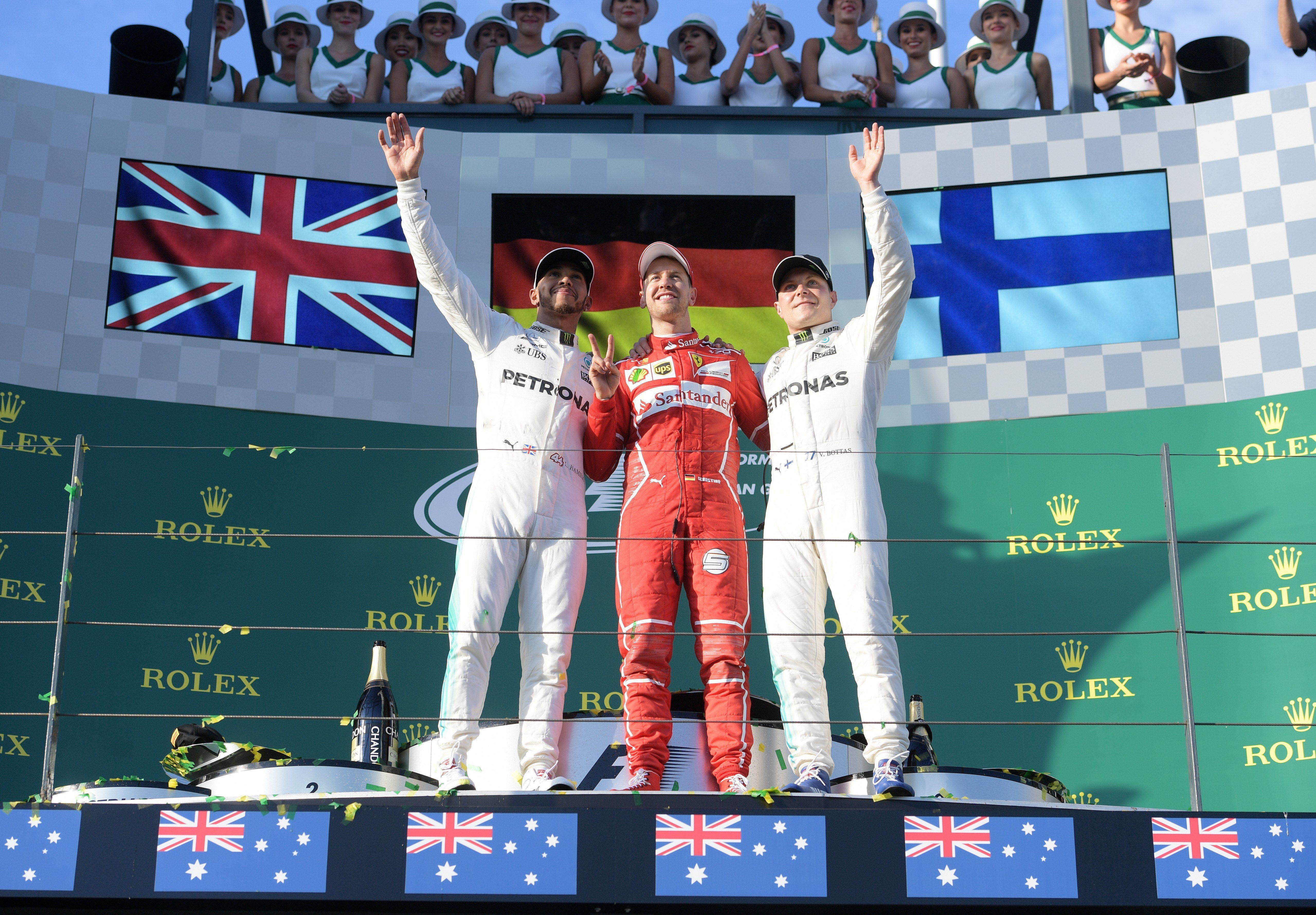 Vettel Hamilton Bottas Fórmula 1 GP Austràlia Efe