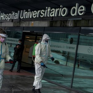 hospital ourense covid desinfeccion - Efe