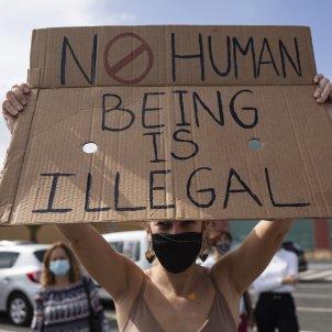 Manifestacion migración derechos Gran Canaria Canarias Racisme  - EuropaPress