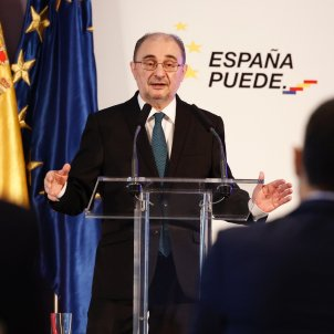 EuropaPress - presidente aragon javier lamban interviene rueda prensa convocada posterior