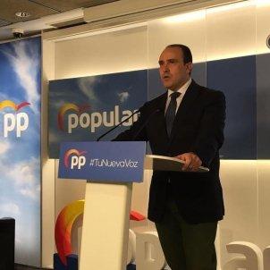EuropaPress - secretario general pp catalan daniel serrano rueda prensa lunes