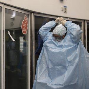 UCI Hospital del Mar Barcelona Coronavirus enfermera box Covid-19 segunda ola pandemia - Sergi Alcazar