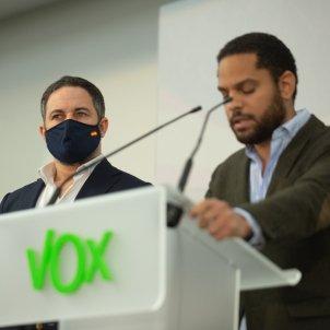 Santiago Abascal Ignacio Garriga VOX Europa Press
