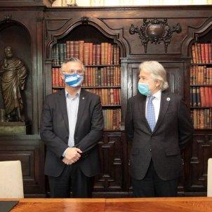 El presidente de Foment del Treball, Josep Sánchez Llibre, y el consejero delegado del RCD Espanyol, José María Durán / Foment del Treball