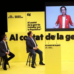 Marta Rovira Oriol Junqueras Pere Aragonès ERC badalona acto ERC 14F / Sergi Alcàzar