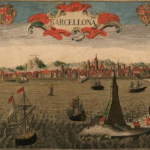 Felip V inicia la repressió contra el partit anti borbonic català. Gravat de Barcelona (1700). Font Cartoteca de Catalunya