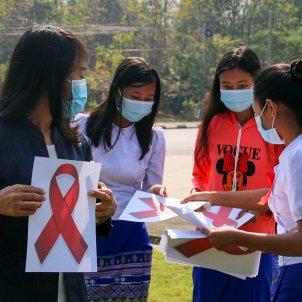deobediència civil birmània manifestacions estudiants / Efe