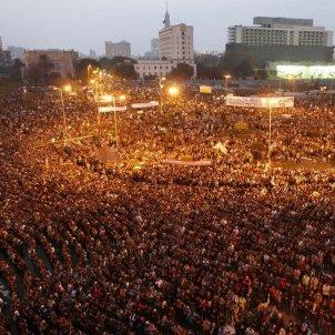 Manifestación Tahrir primarvera árabe / Peta de Aztlan Flickr