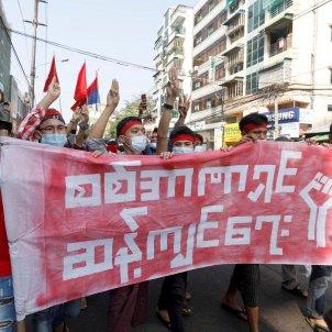 manifestacion golpe estado birmania efe