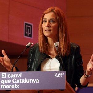 Acto de campaña de la candidata d'En Comú Podem, Jéssica Albiach, en Santa Coloma de Gramanet