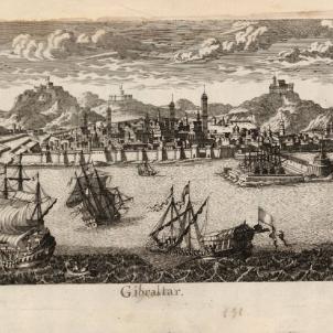 Vista de Gibraltar (1706). Font Cartoteca de Catalunya