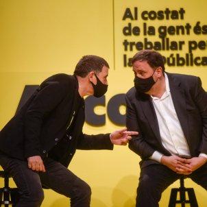 Acto central campaña electoral ERC Junqueras Otegi Girona - ERC