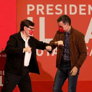 Salvador Illa Pedro Sánchez campanya EFE
