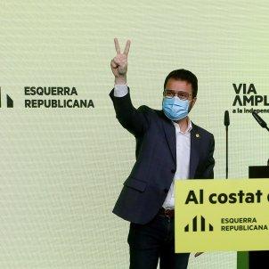 Aragonès i Junqueras 14-F / EFE