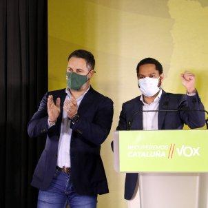 santiago abascal ignacio garriga vox elecciones 14-f acn