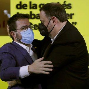 Aragones Junqueras noche electoral 2021 EFE