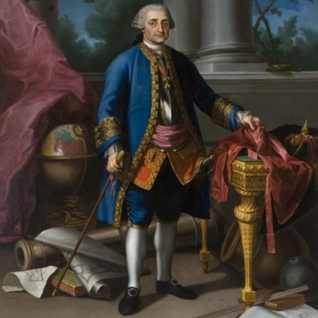 Representació del comte d'Aranda (1769), obra de Ramon Bayeu. Font Museu d'Osca (1)