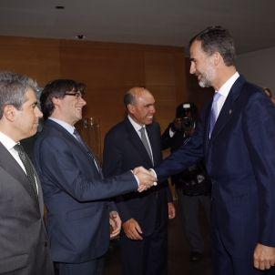 Puigdemont Fòrum Impulsa 2015 amb Reis d'Espanya