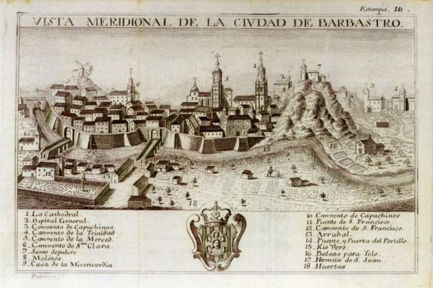 Gravat de Barbastre (segle XVIII). Font Biblioteca Virtual del Patrimonio Bibliográfico
