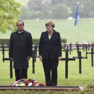 Merkel Hollande EFE