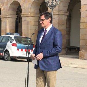 EuropaPress candidato psc presidencia generalitat salvador illa comparecencia disturbios pablo hasél mosos