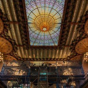 EuropaPress interior palau musica presenta restauracion conjunto escultorico escenario