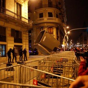 protestas pablo hasel comisaria via laietana - efe