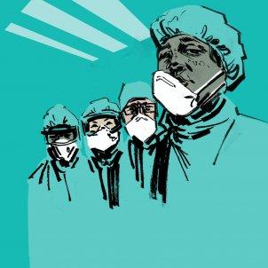 Médicos mascarilla