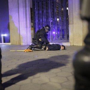 Detenido protesta Hasél - Sergi Rugrand