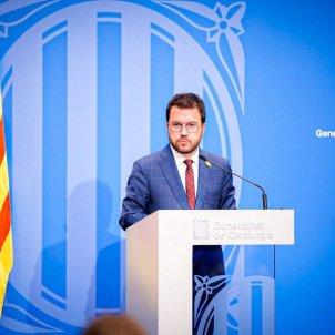 Rueda de prensa manifestaciones Hasél vicepresident Generalitat Pere Aragonès - Arnau Carbonell