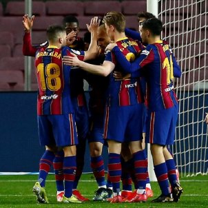 Barça celebración gol EFE
