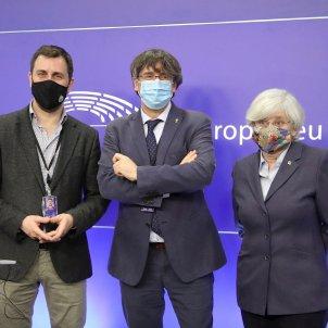 Puigdemont, Ponsatí y Comín Parlamento 2 Europeo EFE