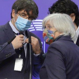 Puigdemont, Ponsatí y Comín Parlamento Europeo EFE