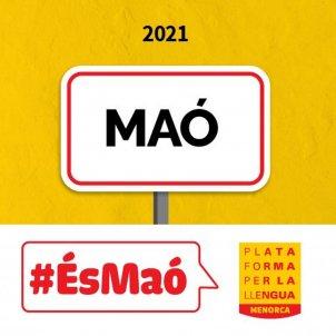 Maó plataforma per la llengua topónimo @llenguacat